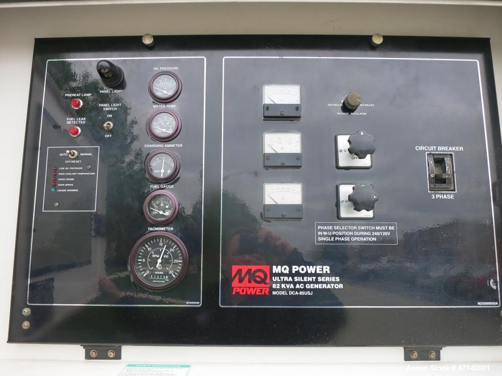 Used-Multiquip MQ Power WhisperWatt DCA-85USJ 75kW standby portable generator