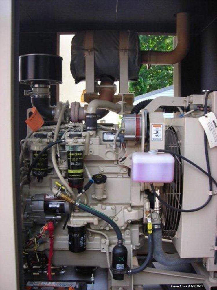 Used- MTU 100 kW Standby Diesel Generator Set, Model 100-JS6DT3, SN-308219-1-1-0409.  John Deere Model 4045-HF285-HF285 engi...