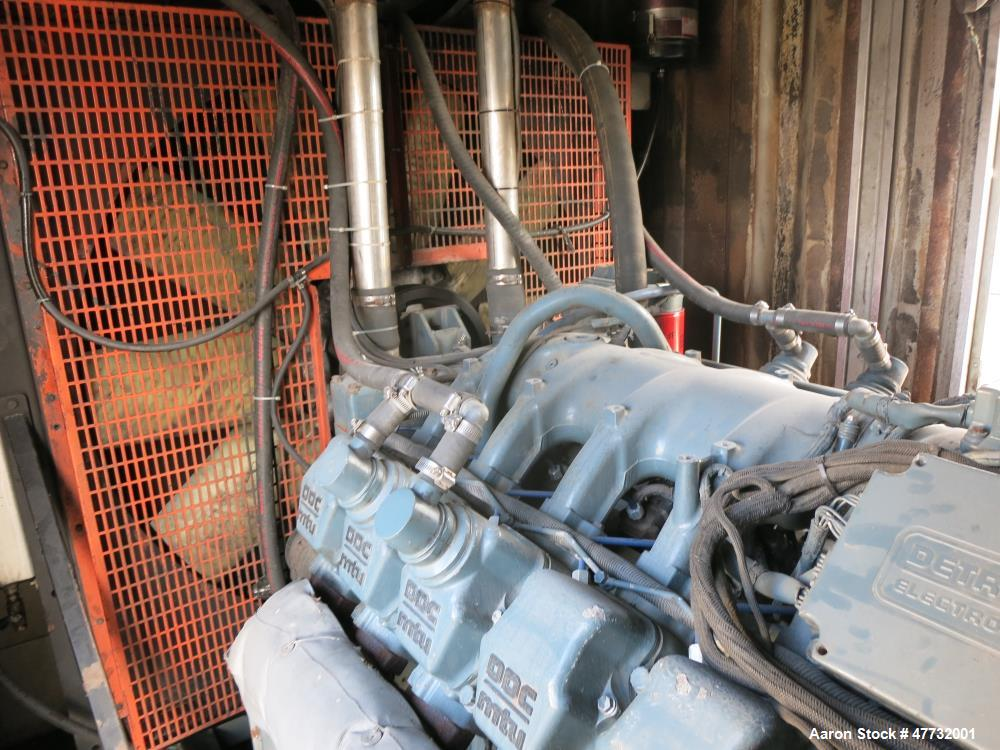 Used-Detroit Diesel / MTU 1000 kW portable / trailered rental grade  gen set.