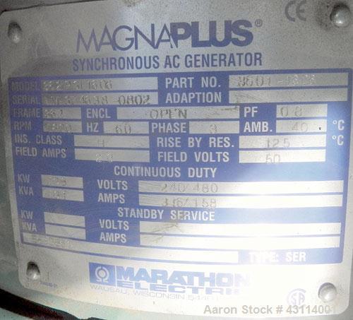 Used- MQ Power / Multiquip 100kW standby (90kW prime) diesel generator set. MQ model KD100V, Volvo model TAD 520 GE SN-53007...