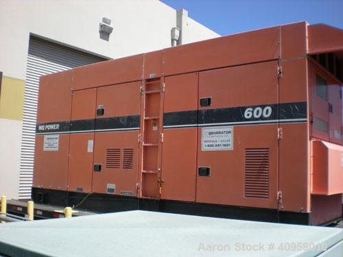 Used-Multiquip Model DCA-600SSK Diesel Generator. Engine model Komatsu SA6D170AE1 standby rated 528 kW/660 kVA. Prime power ...