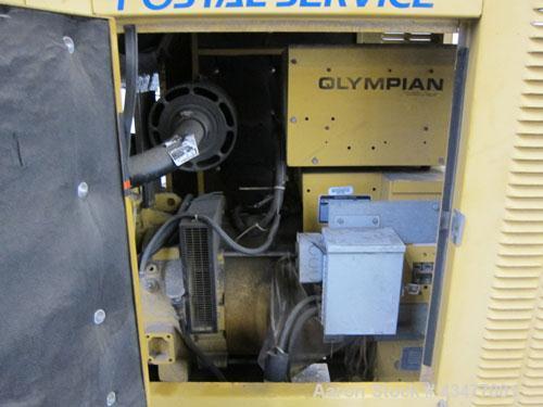 Used- Olympian / Generac 20 kW trailered portable diesel generator set, model 94A-04230. 3/60/ 120/240V. 1370 hours. Year 19...