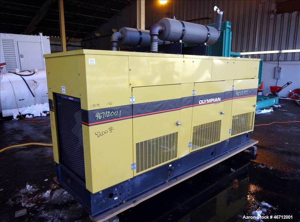 Used- Olympian 100 kW natural gas generator set