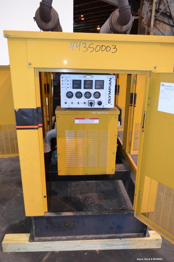Used- CAT / Olympian 100 kW natural gas generator set, model 97A02875-S, SN-2035167. Generac 7.4 L engine. 3/60/120/208V, 12...