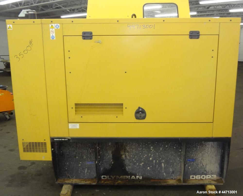 Used- Caterpillar/Olympian 60kW standby Diesel Generator Set, Model D60P3