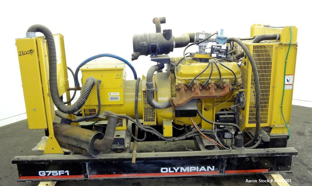 Used- CAT / Olympian 70 kW natural gas generator set. Model G75F1, SN-F1729H/001. 3/60/120/208V reconnectable to other volta...
