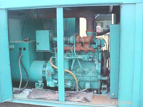 USED: Onan/Allis Chalmers 125 kw diesel generator set, model 125.0DYD-15R/187784. Powered by an Allis Chalmers diesel engine...