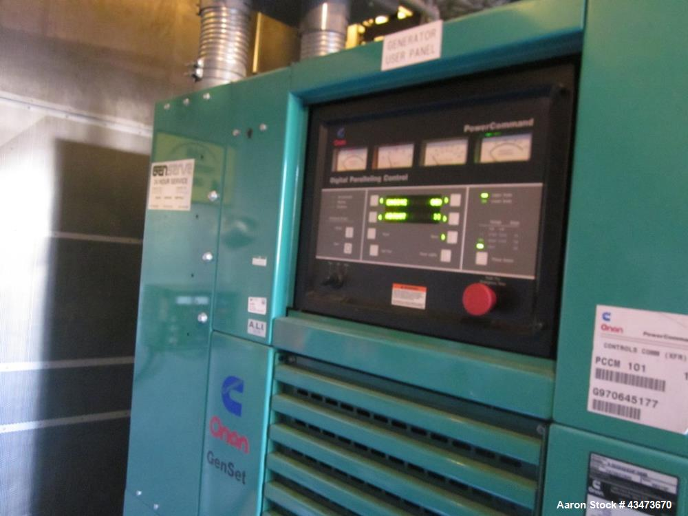 Used- Cummins 1500 kW diesel generator model 1500DFMB. Cummins KTTA50-G2 engine