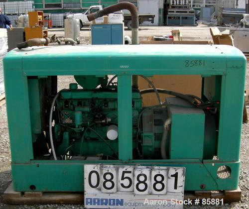 USED: Onan 45 kW natural gas generator set, model 45 OEM 15R/19096M, serial #H780353721. 1573 total hours.