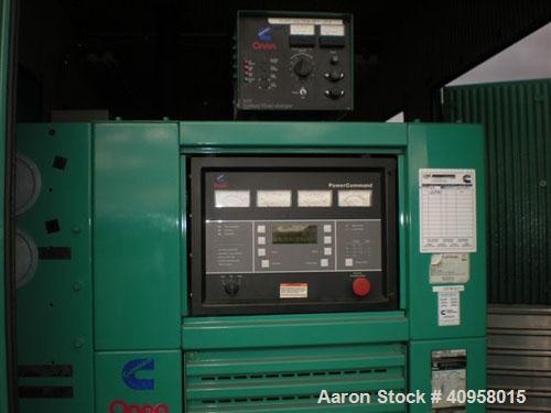 Used-750 kW Onan Diesel Generator Set, Model 750DFJA.480V, 3 ph, 1800 rpm; sound house; 500 gallon Convalt fuel tank; 1250 a...