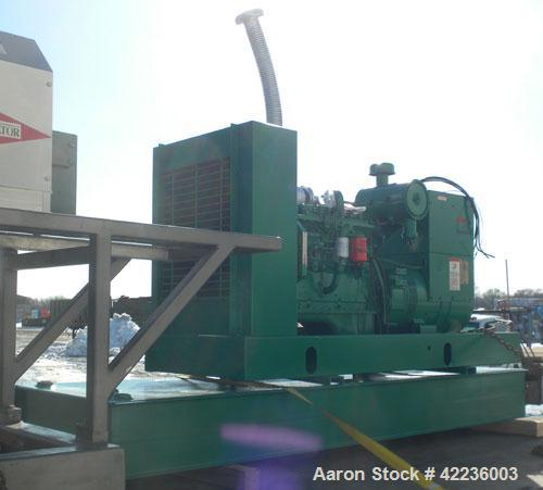 Used- Cummins / Onan 80 kW standby diesel generator set, rated 58kW as single phase. Set model number 80DGDAL30481M, SN-A890...