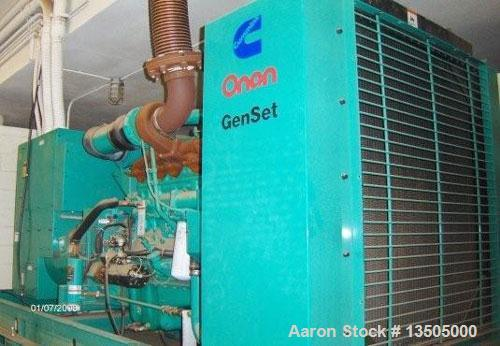 Used-Onan model DFCB-4477833 generator, 375 kW, Cummins N.T.A. 855-62-855 CID diesel engine withi fuel tank below engine, tr...