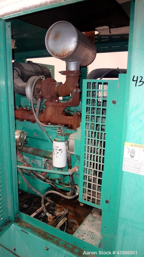 Used- Cummins / Onan 80 KW standby (72kW prime) diesel generator set. Model DGDA SN-I990988710. Cummins 6BT5.9-G6 engine rat...