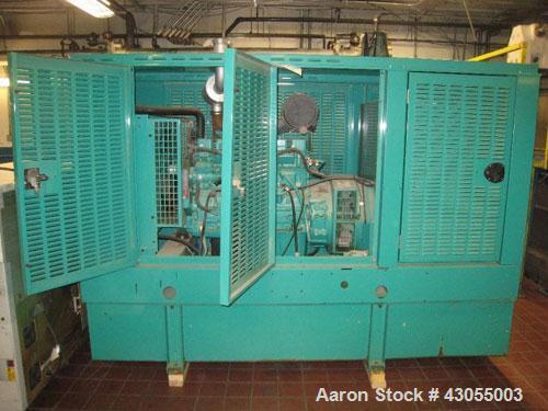 Used-Cummins / Onan 80kW diesel generator set. Model DGDA-4959611, SN-E010241301. Cummins 6BT5.9-G6 engine SN-46105887, rate...