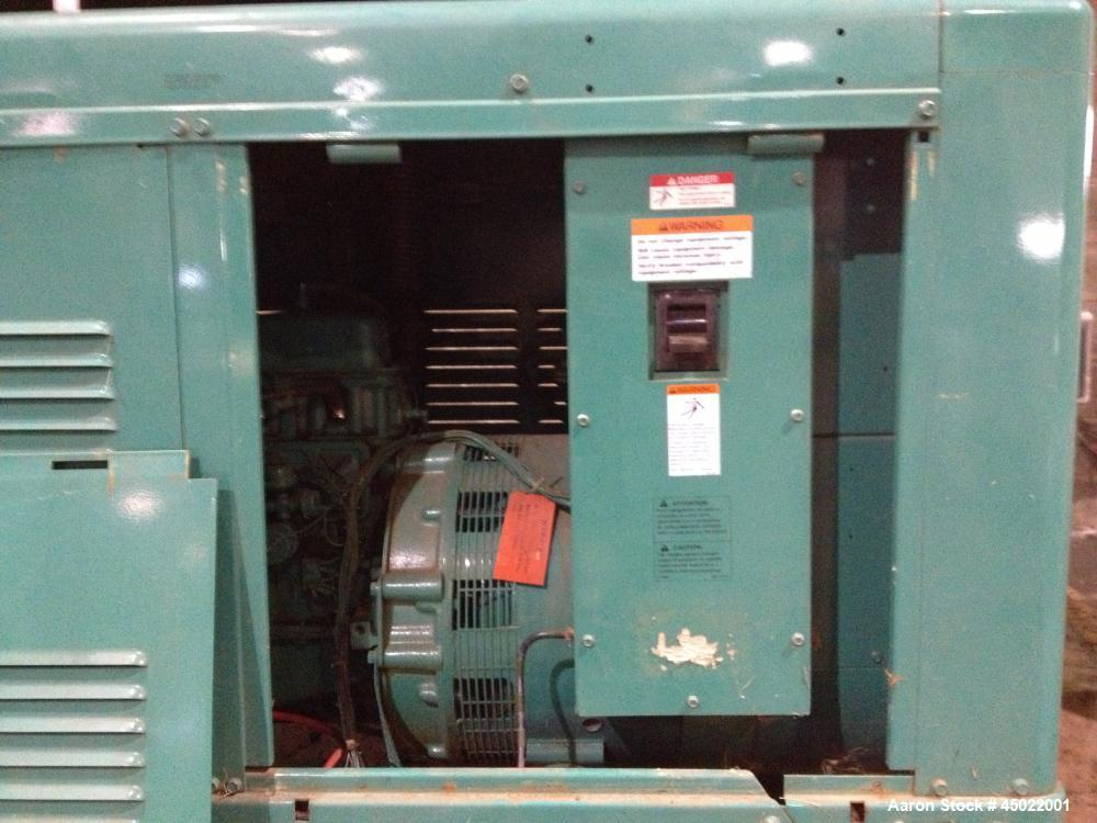 Used-Onan Backup Generator, 45 kw, transfer switch 225A, heavy duty Ford 6 cyl engine CSG-6491-6005, in outdoor enclosure, s...