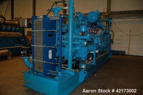 Used-Perkins Gas Generator, 842 kW, type 4015 TESI 140 H/C, 230-400V/50 hz/1500 rpm, run 36,000 hours with revision at 26,00...