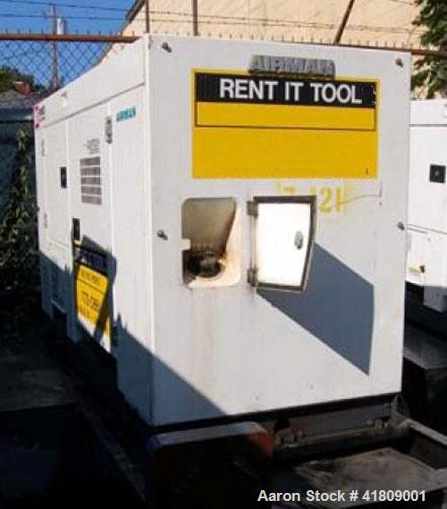 Used-MMD Equipment PowerPro 65 Airman mobile generator, standby rated 53.6kW / 67 kVA, prime rated 50 kW / 63 kVA, model SDG...