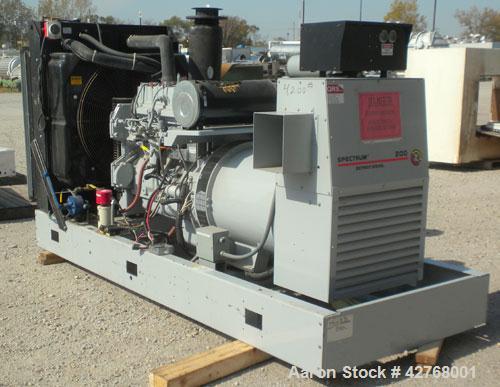 Used- Detroit Diesel / Spectrum 205 kW diesel generator set, model 200DSE, SN-661638. Detroit Diesel Series 40, 4-cycle Turb...
