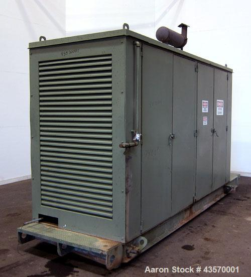 Used- Stewart & Stevenson / Waukesha 80kW continuous natural gas generator set. Waukesha model F11G natural gas engine rated...