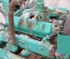 Used-Onan 85kW natural gas generator set. International Harvester Model V549 engine.3/60/277/480V (can also be wired 1/60/12...