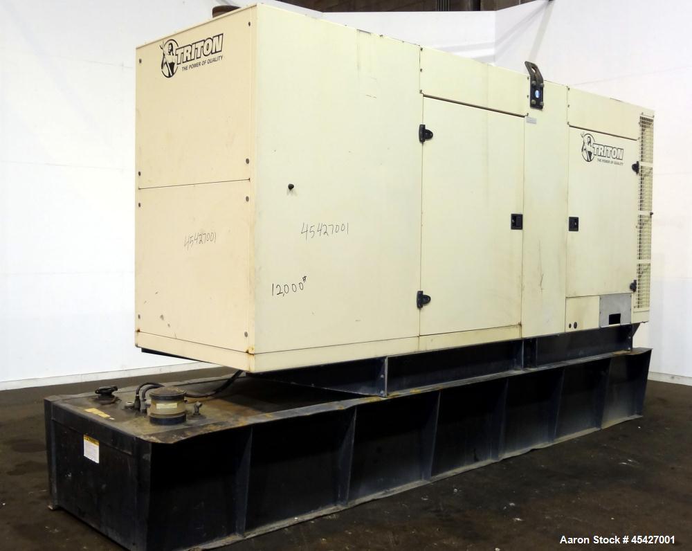 Used- Volvo / Triton 300 kW diesel generator. Volvo TAD941GE engine.