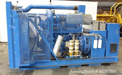 Used- 300 kW Volvo Penta Diesel Generator Set, Model TID121LG, SN-1101026556, 3/60/480V. PMG - Permanent Magnet Generator. 6...