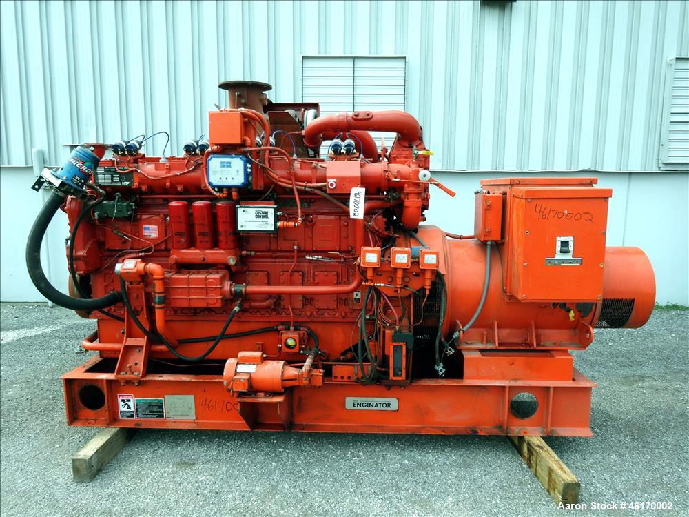 Used- Waukesha 406 kW continuous rated natural gas generator set, model VGF24GLD