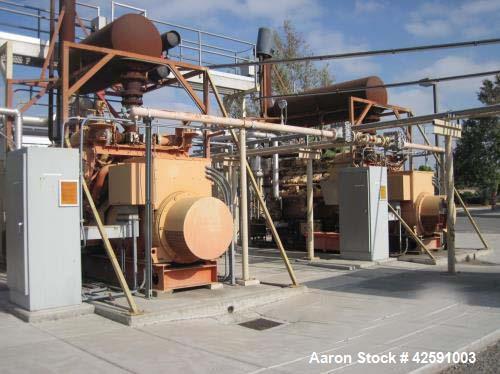 Waukesha 820 kW natural gas generator set. Waukesha L5790GL engine