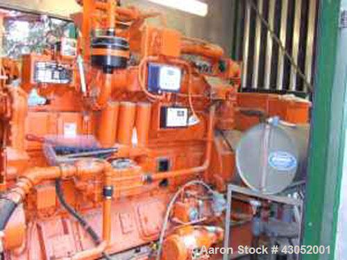 Used-Waukesha 405 kW standby (390kW continuous) natural gas fueled generator set. Waukesha VGF24GL lean combustion natural g...