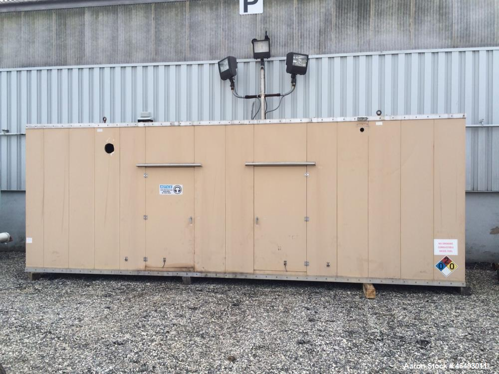 Used-Cummins 500 kW generator enclosure and 2000 gallon sub-base fuel tank only from stock number 46493003