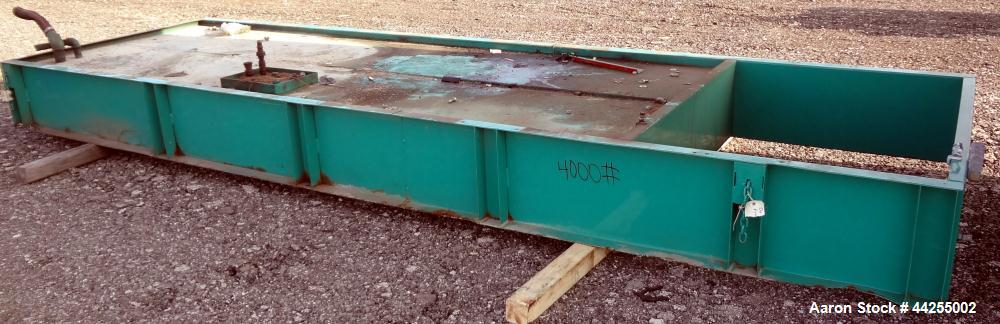 "Used- Generator Sub-base Fuel Tank, Approximate 600 Gallon, Carbon Steel. Tank approximate 56"" wide x 166"" long x 16"" tall. ..."