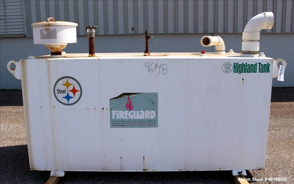 Used-  Highland 600 Gallon Diesel Double Wall External Fuel tank.  Was used with Cummins 300 kW generator. Approximate tank ...