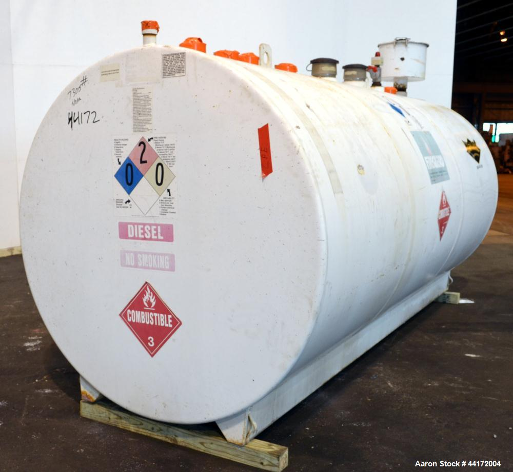 Used- We-Mac Mfg Lightweight Double Wall Fuel Storage Tank, 2000 Gallon, Carbon Steel.