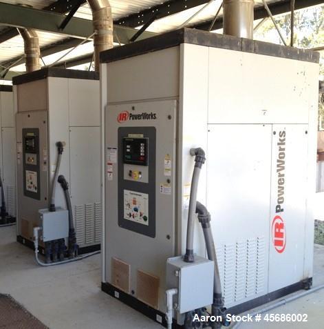 Used- Ingersoll-Rand PowerWorks 70 kW microturbine natural gas generator, model