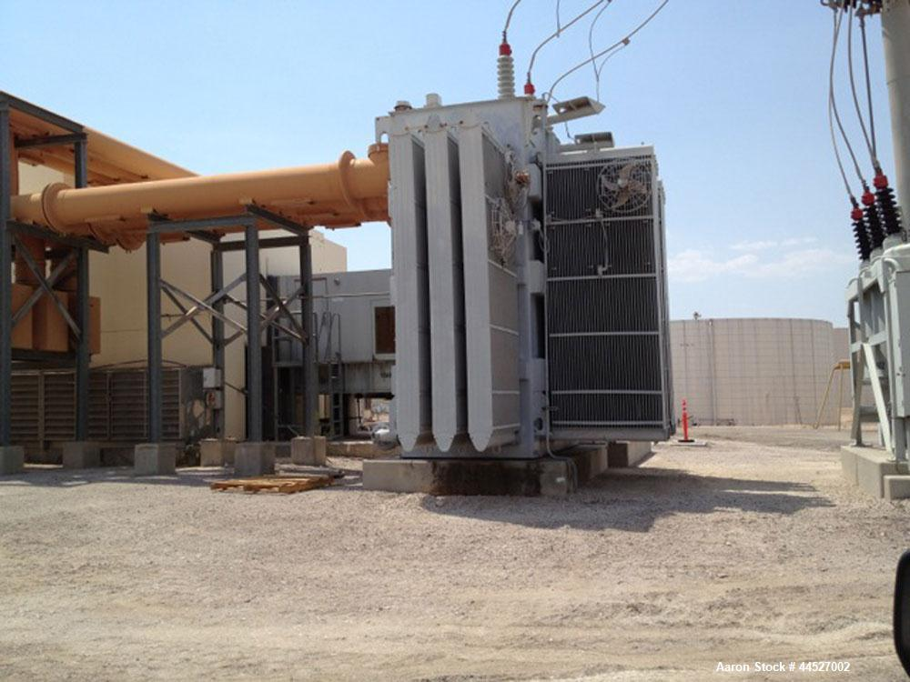 Used-Westinghouse Gas Turbine Generator, Model 501B-2, 70mW, 60Hz, diesel fuel (operating on NG), reduced emissions