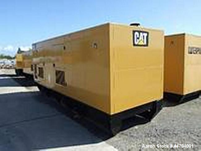 Used-Cat Type C18 Generator.  400V, 500 kVA, 1500 rpm.  Fuel tank 594 gallons (2250 liters).  With hood.  50 Hz.
