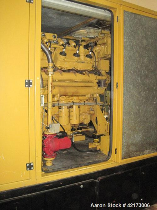 Used-Caterpillar G3412 Gas Generator, 430 HP (320 kW), 30,000 RH, 1500 rpm, 50 Hz/400V, panel board attached.