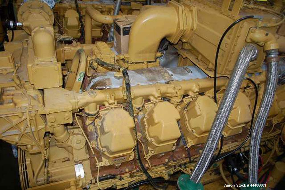 Used-Caterpillar G3512 Natural Gas Generator Set.  768 ekW, 400 volt, 50 hz, 1500 rpm.  Ran for 28,000 and recently overhaul...