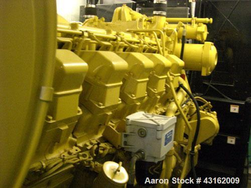 Used- Caterpillar Standby Diesel Generator. Unit rated 1250 kva, 1000 kW, 400 volt, 50 hz. Unit is mounted inside acoustic b...