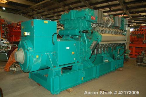 Used-Cummins Generator, Model 1360 QSV81G.RH 19.993, generator 1462 kva, 1500/50/240/400, aircompr for start. Manufactured 2...
