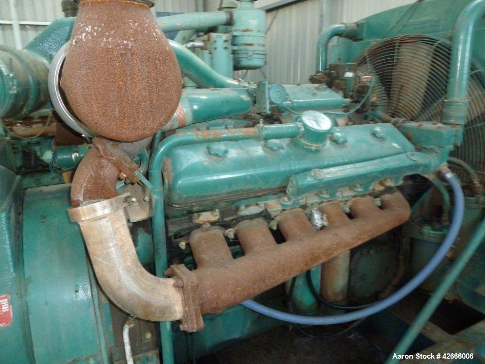 Used-Detroit V12-71-T-Twin Turbo Diesel Generator.