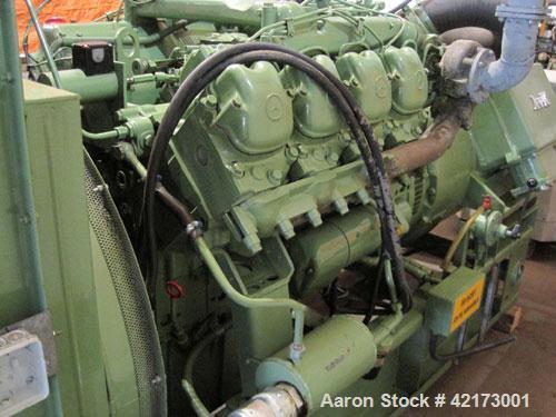 Used-Mercedes 160 kW Diesel Generator. 200 kVA/ 50 hz/1500 rpm, 236 running hours. AvK generator, 173 kW/217 kVA/400V/3 phas...