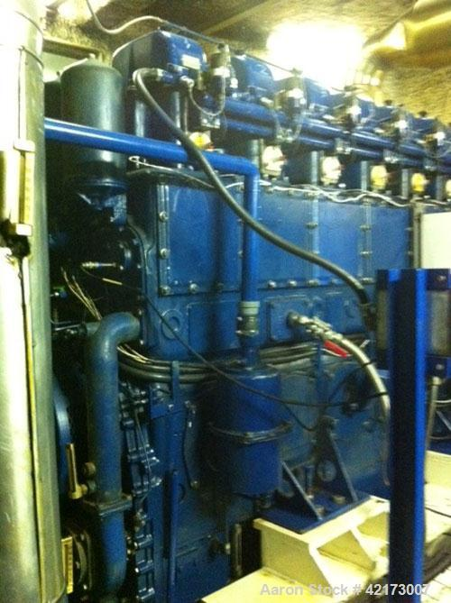Used-Mitsubishi GS8U-PTK Gas Generator with trafo and all components.  Fuel natural gas.  Motor 1934 hp (1040 kW), 3 phase, ...