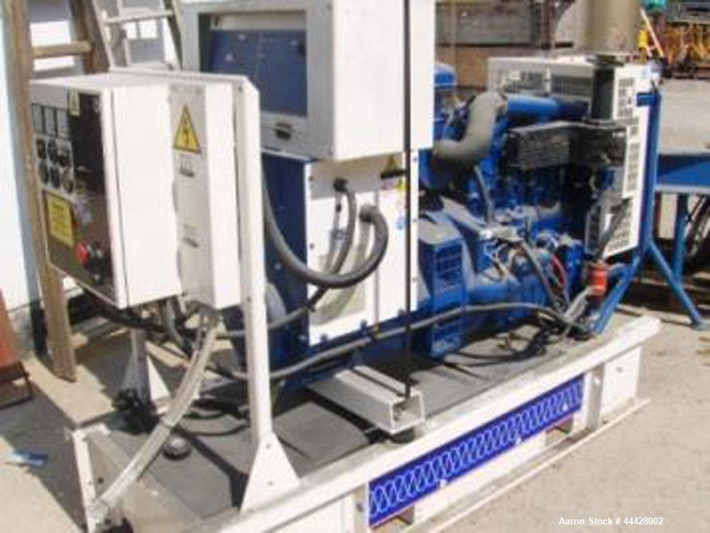 Used-Perkins P40 Emergency Generator System, diesel powered.  34 Working hours.  40 VA, 32W, 380V/220V, 3 phase, 50 Hz.  Pow...