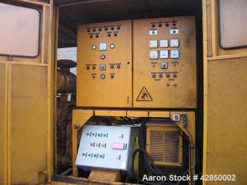 Used-Rolls Royce Leroy Somer Diesel Generator, 440 kW, 550 kVA, 3 x 220/380 V. Rolls Royce V12 Turbo motor, 1500 rpm, 5886 w...
