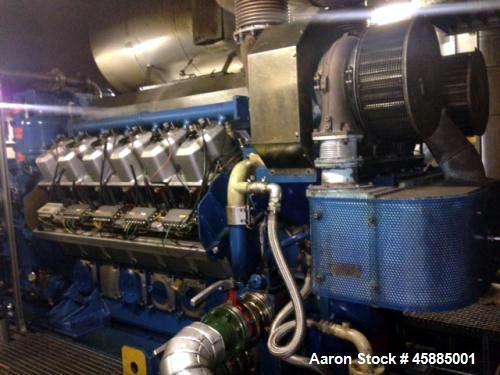 Used- Wartsila Gas Power Plant 220SG. Power 2850. Alternator Leroy Somer LSVI. Built 1998.