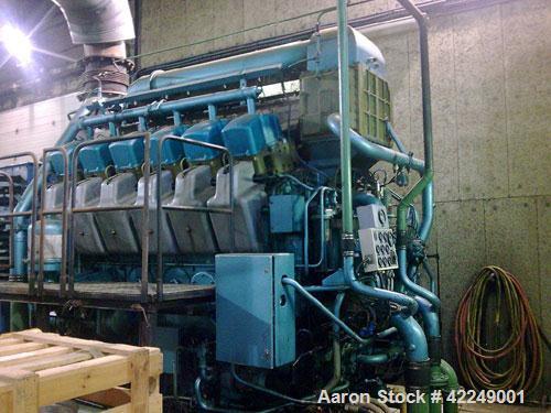 Used-SACM-Wartsila Group Diesel Generator, type G12VS / PA100560. Effect: 1500 kva. Motor: SACM Mulhouse, type A.G.O. G12VS,...