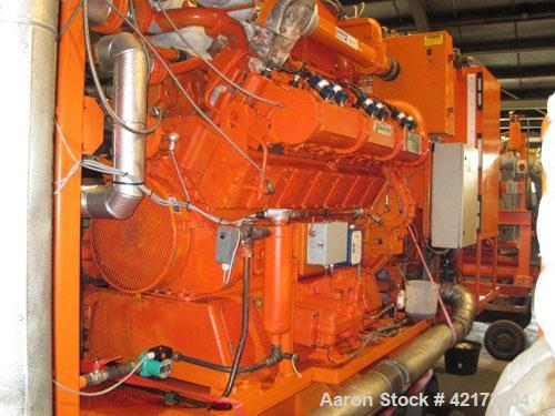 Used-Waukesha Gas Generator, Model L 36 GLD.500 kW, Stamford generator 670 kva, RH 45,000 after revision 10,000 hours, 1500 ...