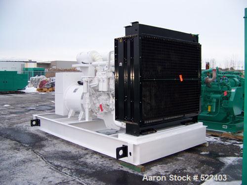Unused-NEW Cummins powered 1500 kW standby diesel generator set. Cummins QSK50-G4 EPA tier 2 certified engine rated 2220 HP ...