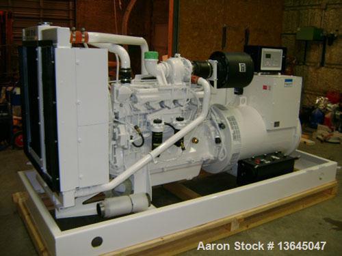 New- John Deere powered 230 kW standby (210 kW prime) diesel generator set. John Deere model 6090HF484 turbocharged engine r...